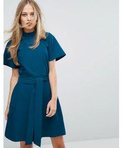 Closet London | Короткое Приталенное Платье С Воротником-Стойкой
