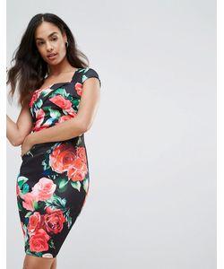 Jessica Wright | Облегающее Платье С Цветочным Принтом
