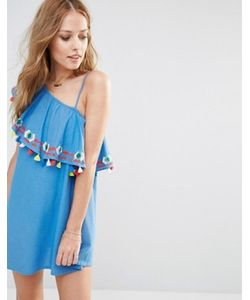 Piper | Платье На Одно Плечо С Оборками И Кисточками Java