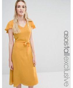 Fashion Union Tall | Короткое Приталенное Платье С Открытой Спиной И Расклешенными Рукавами Fashion Union
