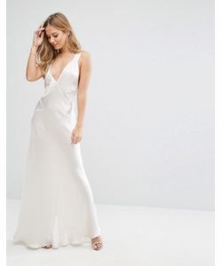 MAJORELLE | Silk Brook Maxi Dress With Cross Back