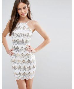Rare | Облегающее Платье С Пайетками И Фигурной Отделкой London