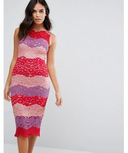 Paper Dolls | Кружевное Платье Миди В Разноцветную Полоску