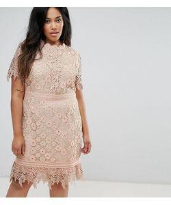 Truly You   Кружевное Платье Мини Со Вставками