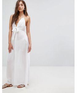 Asos | Пляжное Тканое Платье Макси С Завязкой