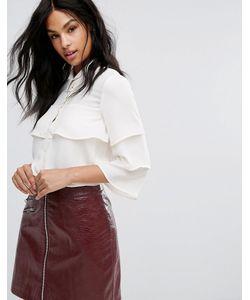 Vero Moda | Рубашка С Ярусными Оборками