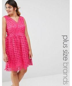 Lovedrobe | Платье Для Выпускного С Декольте И Сетчатым Верхним Слоем Premium
