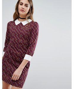 Qed London | Платье С Воротником И Плиточным Принтом