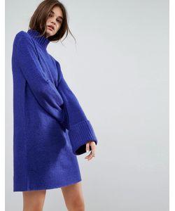 Asos | Свободное Платье С Манжетами С Отворотом