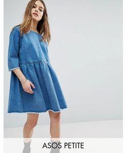 ASOS PETITE | Джинсовое Свободное Платье