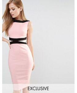 Vesper | Платье-Футляр Со Вставками Колор Блок