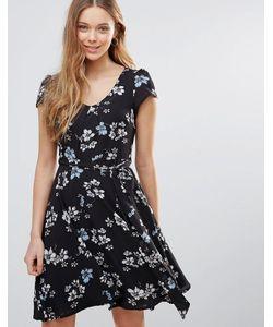 Yumi   Платье С Цветочным Принтом И Поясом