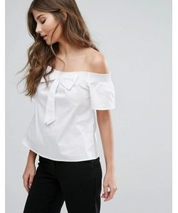 Qed London | Off The Shoulder Top With Bow Detail