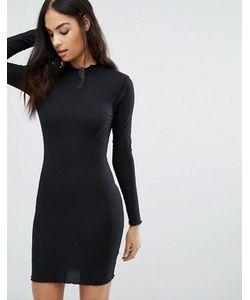 MISSGUIDED | Облегающее Платье С Оборкой По Краям