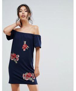 Club L | Платье С Открытыми Плечами И Вышивкой