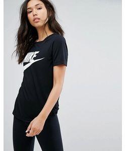 Nike | Черная Футболка С Логотипом