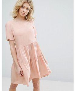 Vero Moda | Свободное Ярусное Платье С Оборками