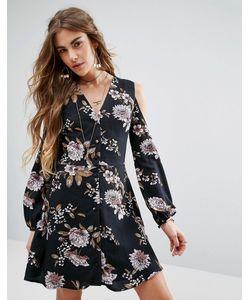 Honey Punch | Платье С V-Образным Вырезом И Открытыми Плечами
