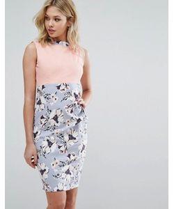 Vesper | Платье-Футляр С Цветочным Принтом