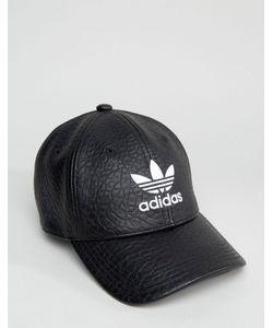 21a8d68e7 adidas Originals - Черная Кепка Из Искусственной Кожи С Трилистником Bk6967