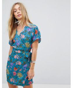 Glamorous | Чайное Платье С Запахом И Цветочным Принтом