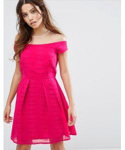 Little Mistress | Короткое Приталенное Платье С Короткими Рукавами