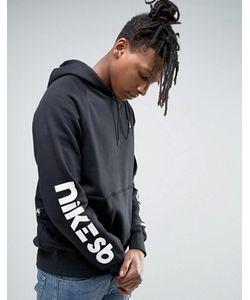 Nike SB | Худи Черного Цвета С Принтом На Рукавах Icon 837934-010