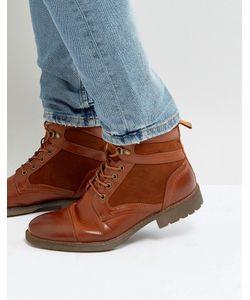 Asos | Светло-Коричневые Ботинки Из Искусственной Кожи На Шнуровке