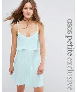 ASOS PETITE | Платье Мини С Укороченным Топом И Плиссировкой Для Миниатюрных
