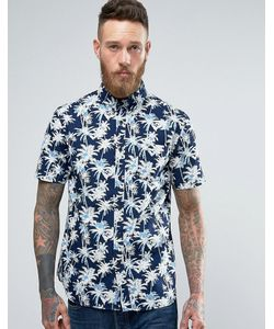 Edwin | Классическая Рубашка Цвета Индиго С Пальмами