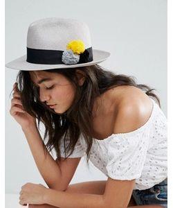 Helene Berman | Шляпа-Трилби С Разноцветными Помпонами