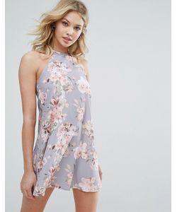 Oh My Love | Свободное Платье С Цветочным Принтом И Лямкой Через Шею Oh My