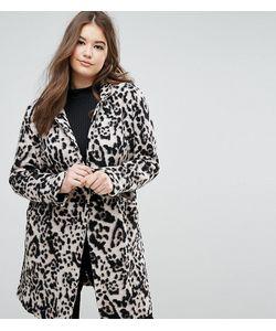 Elvi | Шерстяное Пальто С Леопардовым Принтом