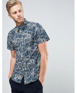 PS PAUL SMITH | Темно-Синяя Рубашка С Короткими Рукавами И Цветочным Принтом Ps By Paul