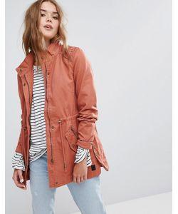 Vero Moda | Выбеленная Куртка В Стиле Милитари С Высоким Воротом