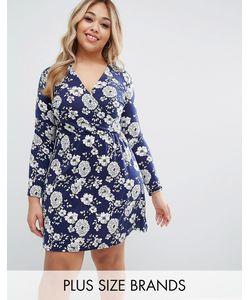 Club L | Короткое Приталенное Платье С Цветочным Принтом Plus