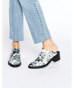 Miista | Туфли Без Задника С Мраморным Принтом