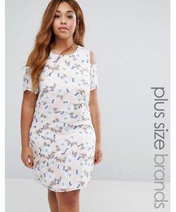 Koko | Цельнокройное Платье С Цветочным Принтом И Открытыми Плечами Plus