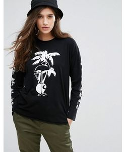 Carhartt WIP | Long Sleeve Skate T-Shirt With Flamingo Print