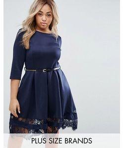 Praslin | Короткое Приталенное Платье С Кружевом По Краю Plus