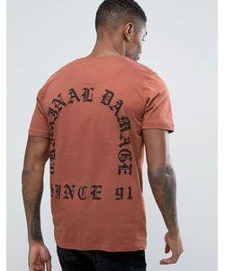 Criminal Damage | Old English Font Back Print T-Shirt