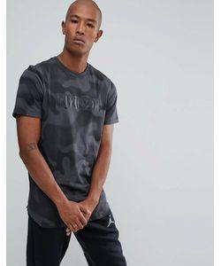 Jordan | Черная Камуфляжная Футболка Nike 864925-060