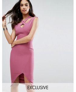Vesper | Платье-Футляр С Разрезом И Ремешками