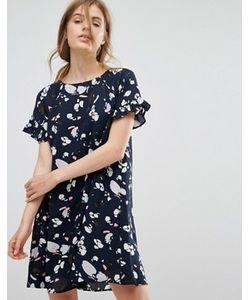 Vero Moda | Цельнокройное Платье С Цветочным Принтом И Рюшами