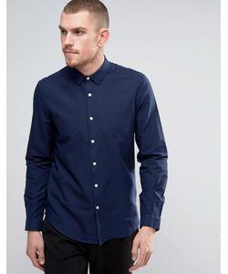 Asos   Темно-Синяя Оксфордская Рубашка Классического Кроя