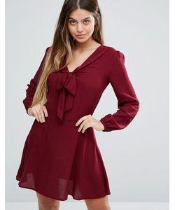 Unique 21 | Короткое Приталенное Платье С Длинными Рукавами