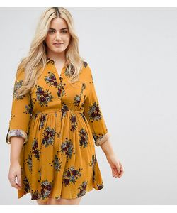 Club L   Платье С Длинными Рукавами И Цветочным Принтом Plus