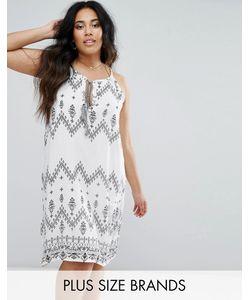 Diya | Платье С Завязкой На Шее Принтом