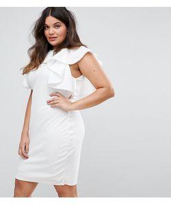 Club L | Платье С Оборками И Высоким Воротом Plus