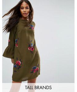Vero Moda Tall   Цельнокройное Платье С Цветочным Принтом